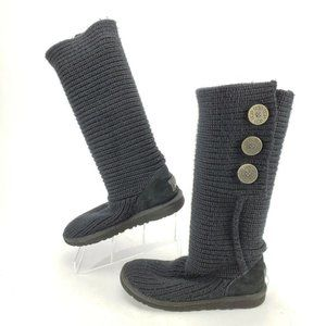 Ugg Cardy Boot Knee High Knit Slip On Buttons
